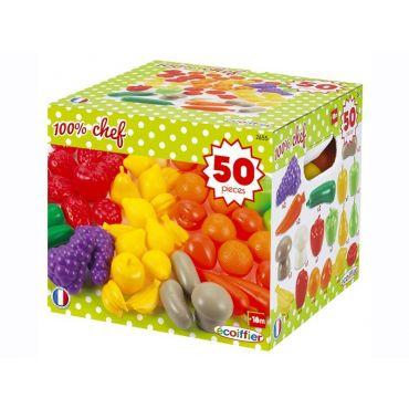 PACK 50 FRUITS ET LEGUMES ECOIFFIER 002655