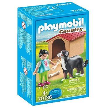 ENFANT AVEC CHIEN PLAYMOBIL 70136