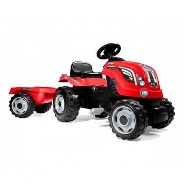 TRACTEUR FARMER XL ROUGE+REMORQUE SMOBY 710108